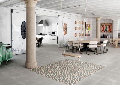 Encaustic Collection - Grey / Graphite Deco